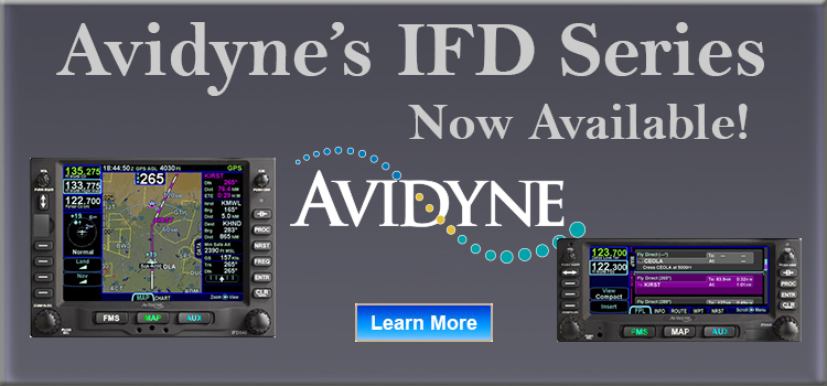 Avidyne's IFD Series are now available.