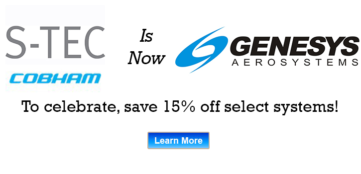S-TEC is now Genesys and offering savings on select Auto Pilot components.